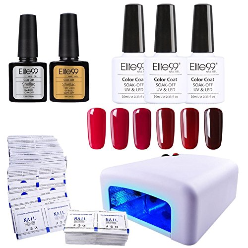 Elite99 Kit de Manicura 6pcs de Esmalte...