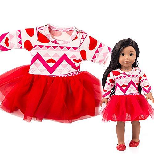 ALIKEEY Vestido Hermoso del Hilado para El Juguete De La Muchacha De La Muñeca Americana del Accesorio De 18 Pulgadas Navidad Bebes NiñAs Reborn Juan AñO