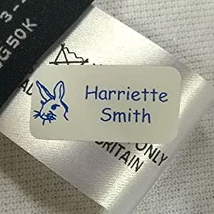 30 Just Stick Clothing Name Tags/Labels- No Sew or Iron for School Children, Care Home