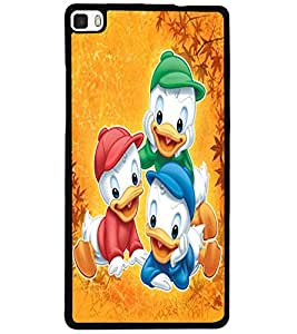 ColourCraft Lovely Cartoon Characters Design Back Case Cover for HUAWEI P8