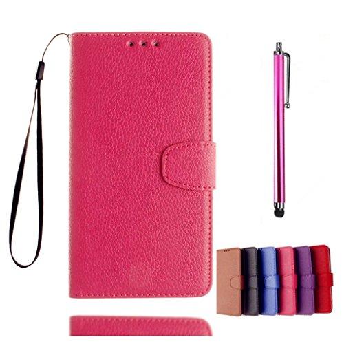 kshop-coque-de-protection-bookstyle-pour-iphone-5c-cas-de-telephone-haut-de-gamme-pu-cuir-rose-cas-f