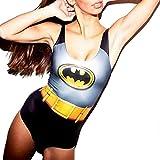 Petite Justaucorps de personnage femme Maillot de bain Batman Costume 6/8/10