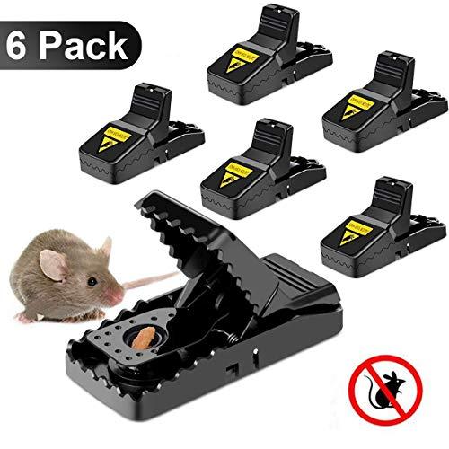 GoodGoodday PièGe à Souris, Tapette à Rat Réutilisable Souricière Ultrasensible Appat Souris avec Ressort puissant et Sensible Contrôle Des Rats Efficace (Lot de 6)