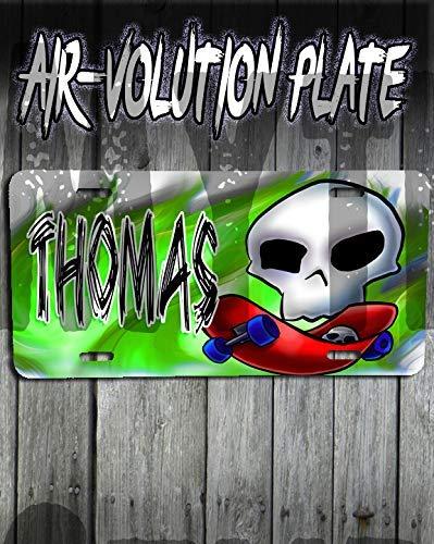 Mythic Airbrush Personalisierte Airbrush Skateboarden License Plate Tag