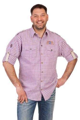 orbis Textil H100 - Trachtenhemd mit Krempelarm beere Größe S