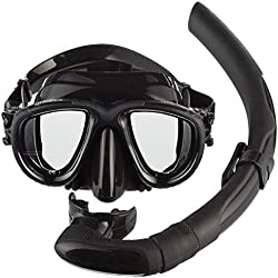 Mares Masque Plus Tuba plongée Tana kit-Noir/Noir