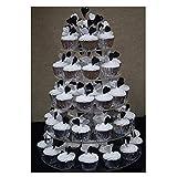 Buyi-World Tortenständer Mehrstöckige Hochzeit Muffinständer und Dessert Tower, Kuchen Deko Gestell Stabil für Geburtstag und Feier Party, 5 etagen Acryl
