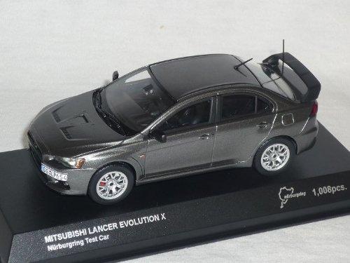 Kyosho Mitsubishi Lancer Evo 10 X NÜrburgring Test Car Grau Evolution 1/43 Modell Auto Modellauto (Lancer Evolution 10)
