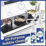 Profi Küchenfettreiniger 200ml, Hukz Haushalt Küchenreiniger Allzweckreiniger Kitchen Grease Foam Cleaner All-Purpose Bubble Cleaner, Instant Cleaning und Quick-Dry (Weiß)