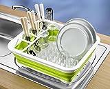 UPP Mobiler Geschirrabtropfer Faltbar/Kunststoff Abtropfgestell für Geschirr und Besteck