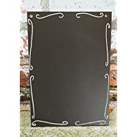 A4 Chalkboard Ornate Shabby Chic Ornate Blackboard Free UK P&P