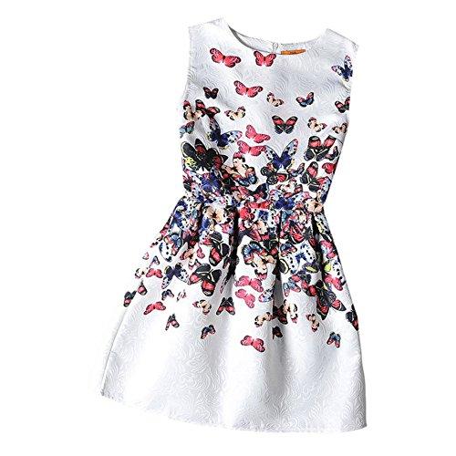 Vestido Nueva tutú Vestido niñas de la impresión vestido princesa sin manga para Muchaschas Fiesta