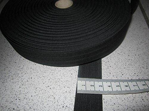 (1,36 € / m) 5 m Gummiband 3 cm Breit Farbe: schwarz Hohe Spannkraft - Breite 3