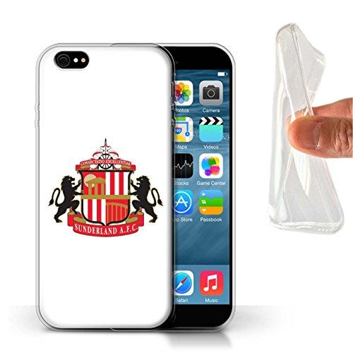 Offiziell Sunderland AFC Hülle / Gel TPU Case für Apple iPhone 6 / Pack 6pcs Muster / SAFC Fußball Crest Kollektion Weiß