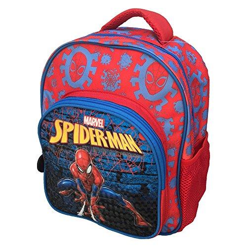 Zaino spiderman marvel supereroe asilo borsa scuola sagome 3d cm.30 - sp0235