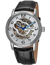 Stührling Original 107BG.33152 - Reloj analógico para hombre, correa de cuero, color negro