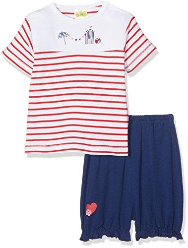 DIMO-TEX Baby-Mädchen Zweiteiliger Schlafanzug Pyjama Marina Shorty 2 teilig, (Mehrfarbig 997), 86