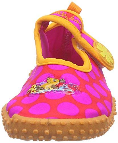 Playshoes DIE MAUS - Uv-schutz Badeschuhe Die Maus Punkte, Stivali Bambina Rosa (Pink (original 900))