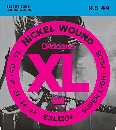 D'Addario EXL120+ - Juego de cuerdas para guitarra eléctrica de níquel, .0095-.044