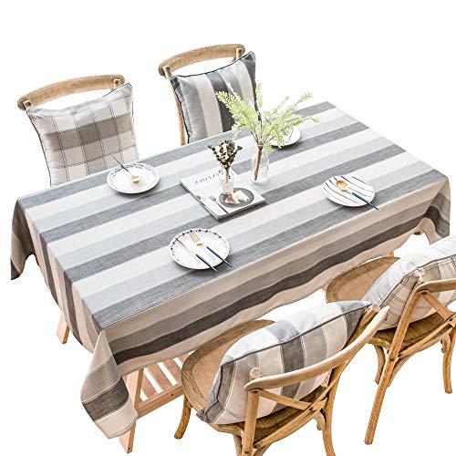 XQJDD Tischdecke - Tischdecke aus Baumwolle und Leinen - Waschbar Staubdichte Tischdecke - Geeignet für Küchenrestaurantpartys - 140x240cm