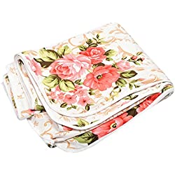 Stylla Shoppers Floral Polycotton Single Size Dohar (Pink)