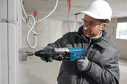 Bosch Professional GBH 2-28 DFV Bohrhammer (SDS-plus-Wechselfutter, 13 mm Schnellspannbohrfutter, bis 28 mm Bohr-Ø, Koffer) blau - 2