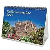 mallo RCA magique-DIN A5-Premium Calendrier de bureau/calendrier 2019-Mallorca-Vacances-Espagne-Mer-Coffret cadeau avec 1carte de vœux et 1carte de Noël-Édition âme magique