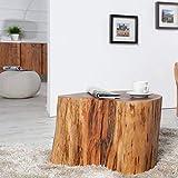 lounge-zone Beistelltisch Pure Baumstamm Massivholz Akazie 13269
