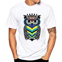 Yvelands Printing Tees Shirt Moda para Hombre Guapo Funny O-Cuello Modal Durable Manga Corta Camisetas Blusa Tops Verano, Liquidación