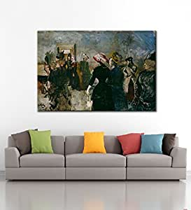 Tallenge - Albertine by Christian Krohg - Premium Quality Oversized Art - Unframed Rolled Canvas Art Print For Home Décor (65x44 inches)