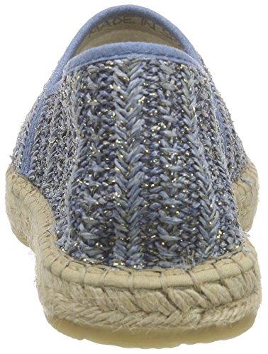 I love candies ILC Damen Espadrille, Espadrilles femme Bleu - Blau (Jeans 869)