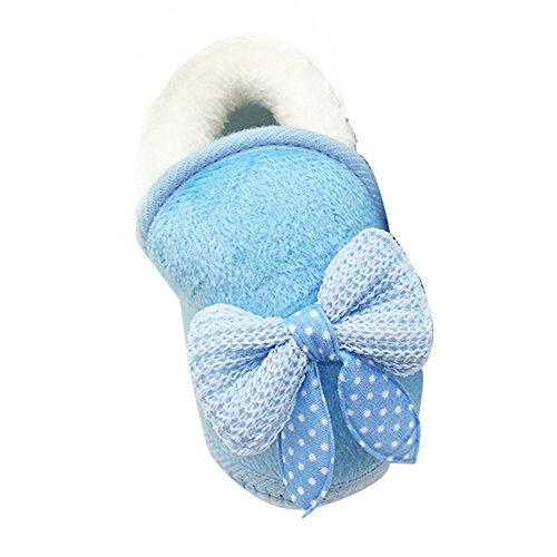 ❤️Amlaiworld Chaussures bébé Bowknot Bottes à Semelle Souple Prewalker Chaussures Chaudes Peluche Chaussons pour Filles 0-18Mois