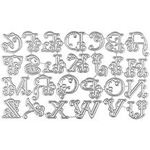 QUICKLYLY DIY Troqueles de Metal Dies Alfabeto Grande Corte Plantillas Estarcir para Tarjeta, Papel,