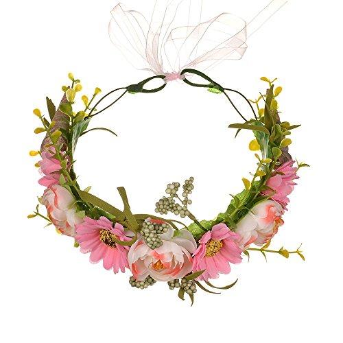 Rattan Rose Blume, realistische Blumen Einfaches Design, geeignet für Partys, Hochzeiten, Brautjungfern, besondere Anlässe usw. (Pink)