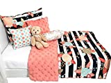 Daydream Doll Boutique 18 3 Pc. Bedding Set Fits American Girl, Mint Floral,