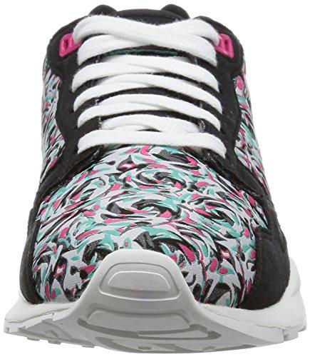 Le Coq SportifLcs R900 W Flower Jacquard - Sneaker Donna Nero (Noir (Black/Honeysuckle))