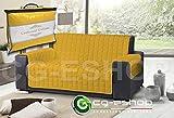 Confezioni Giuliana COPRIDIVANO Trapuntato 2 3 4 posti Moderno Tinta Unita Giallo (3 Posti)