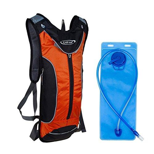G4Free 10L Sport Trinkrucksack mit 3L-Wasser-Blasen geeignet für Radfahren Wandern Rennen Gehen