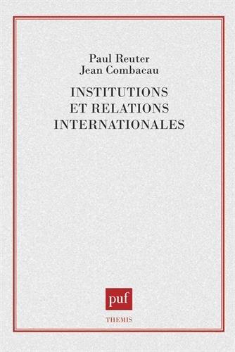 Institutions et relations internationales
