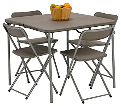 Vango Woodland Table and Chair Set - Grey - cheap UK light shop.