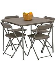 Vango Woodland Table and Chair Set - Grey