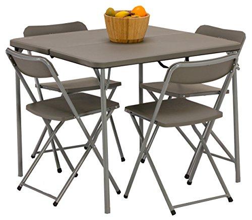 Vango Woodland Tisch Und Stuhl Set Grey Std