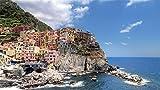 ZSFFSZ Cinque Terre Manarola Paesaggio, Mare 3D Jigsaw Puzzle 1000 Piece, Assemblati in Legno Fai da Te Puzzle Assemblaggio Giocattoli per Bambini, Legno Puzzle Legno Regalo