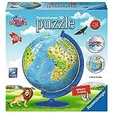 Ravensburger Erwachsenenpuzzle 12337 Kinderglobus in Deutscher Sprache 3D-Puzzle
