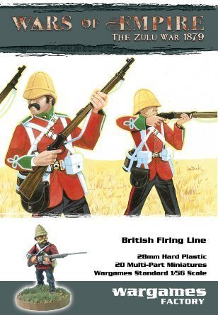 Wars of Empire Zulu 1879 British Firing Line (20) 1/56 Wargames Factory by Wargame Factory