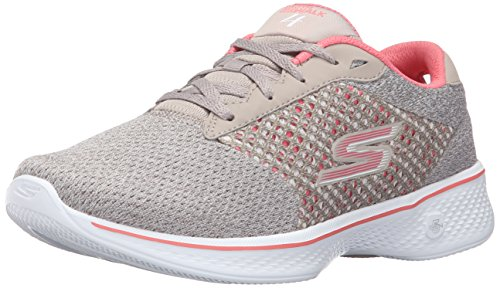 Skechers Women Gowalk 4-Exceed Low-Top Sneakers, Beige (Tpcl), 6 UK (39 EU)
