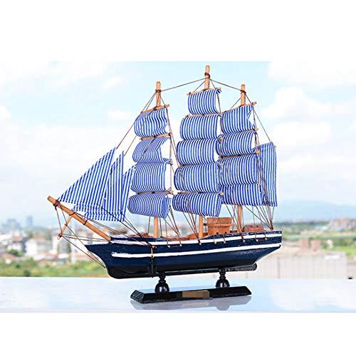 Guvd Decorazione del Modello di Nave Pirata, Realistico Veliero Artigianato in Legno Decorativo Decorazione Tavolo Corsair Ornament