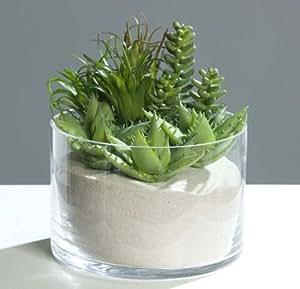 Artificielles - Plantes grasses succulentes cactees x9 tetes melangees