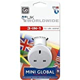 Go Travel Mini Global Travel Adapter, White, One Size