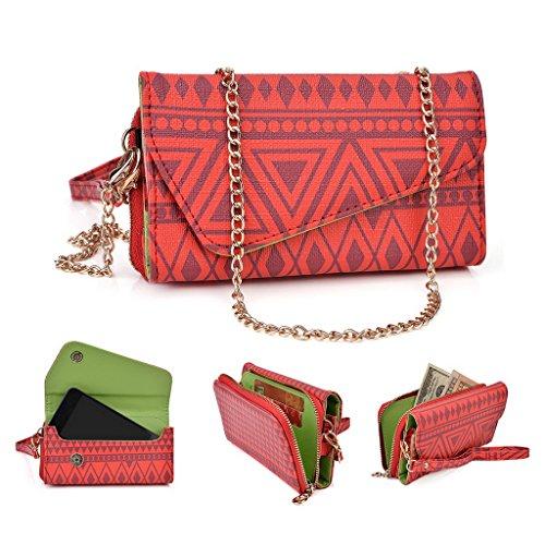 Kroo Pochette/étui style tribal urbain pour Nokia Asha 503 vert rouge